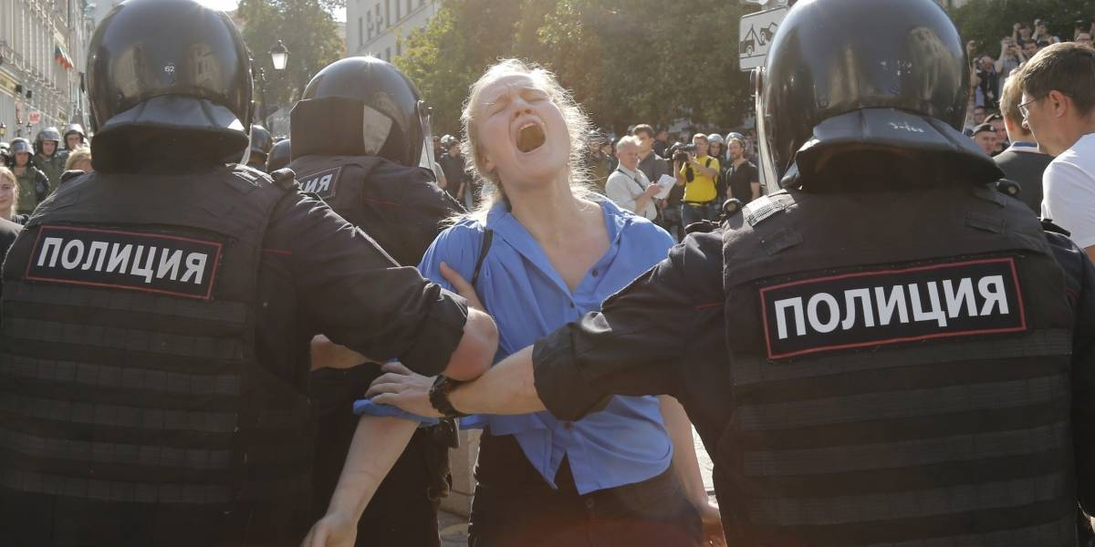 Putin contra la oposición: cerca de 1.400 detenidos en una protesta en Moscú