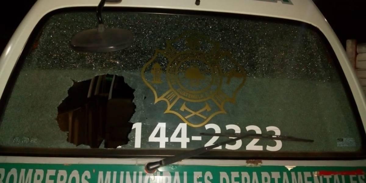 Atacan unidad de bomberos de la Antigua Guatemala