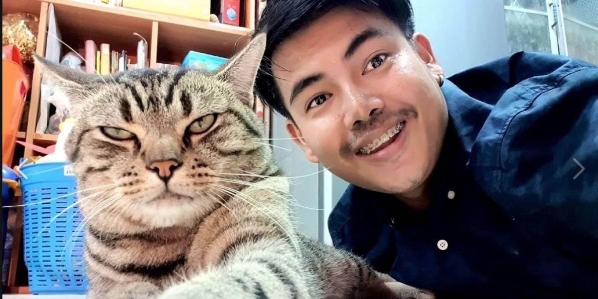 Un hombre descubre que su gato lo asfixiaba por las noches