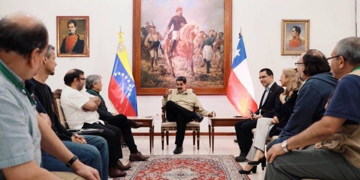 """""""Estoy seguro que Chile recobrará el camino de Allende"""": Maduro se reúne con delegación chilena en el marco del Foro de Sao Paulo"""