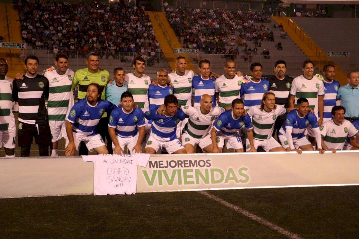 Juego Leyendas: Óscar Sánchez es recordado por figuras del futbol de Guatemala