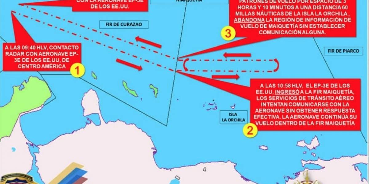 Venezuela denuncia incursión de otro avión espía de EU