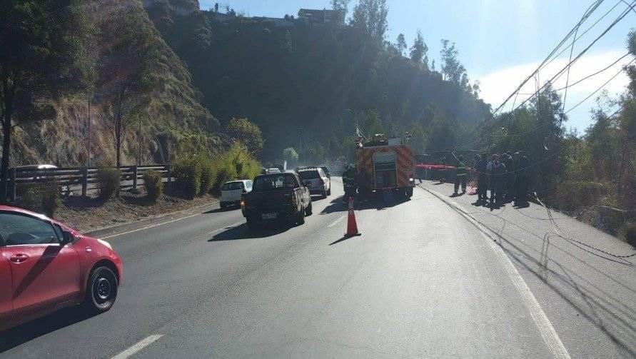 al accidente de tránsito registrado en la Simón Bolívar.