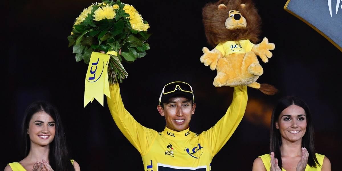 Egan Bernal el humilde: así respondió el campeón del Tour de Francia en su homenaje
