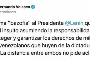Ministro de Cultura, Juan Fernando Velasco.
