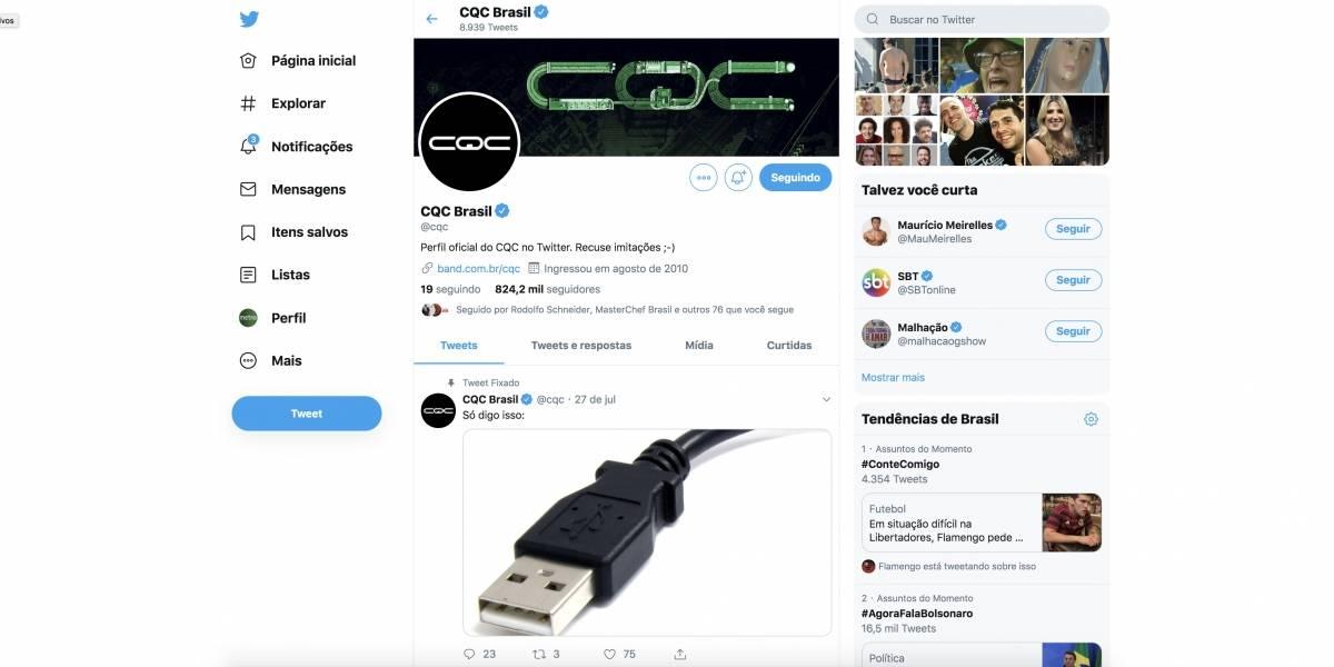 Twitter do 'CQC' é hackeado e causa confusão em internautas