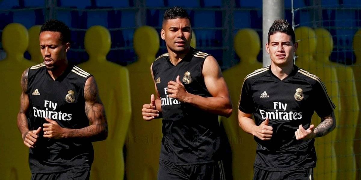 James Rodríguez volvió a los entrenamientos con el Real Madrid