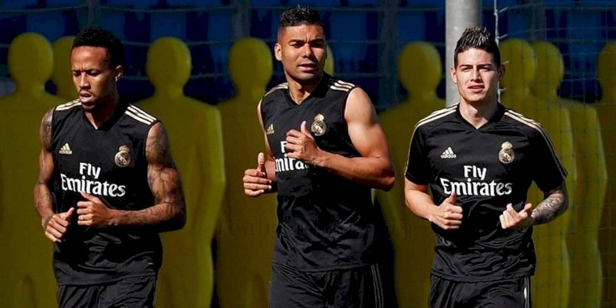 James regresa a los entrenos con el Madrid, ¿se quedará?