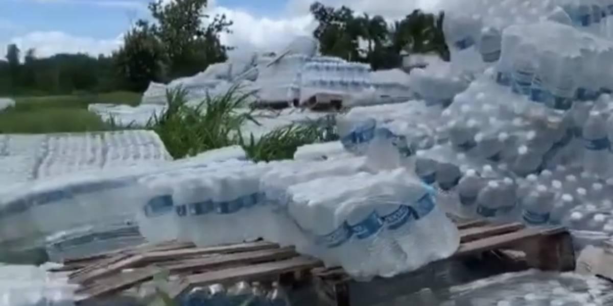 FEMA no ofrece detalles sobre botellas de agua