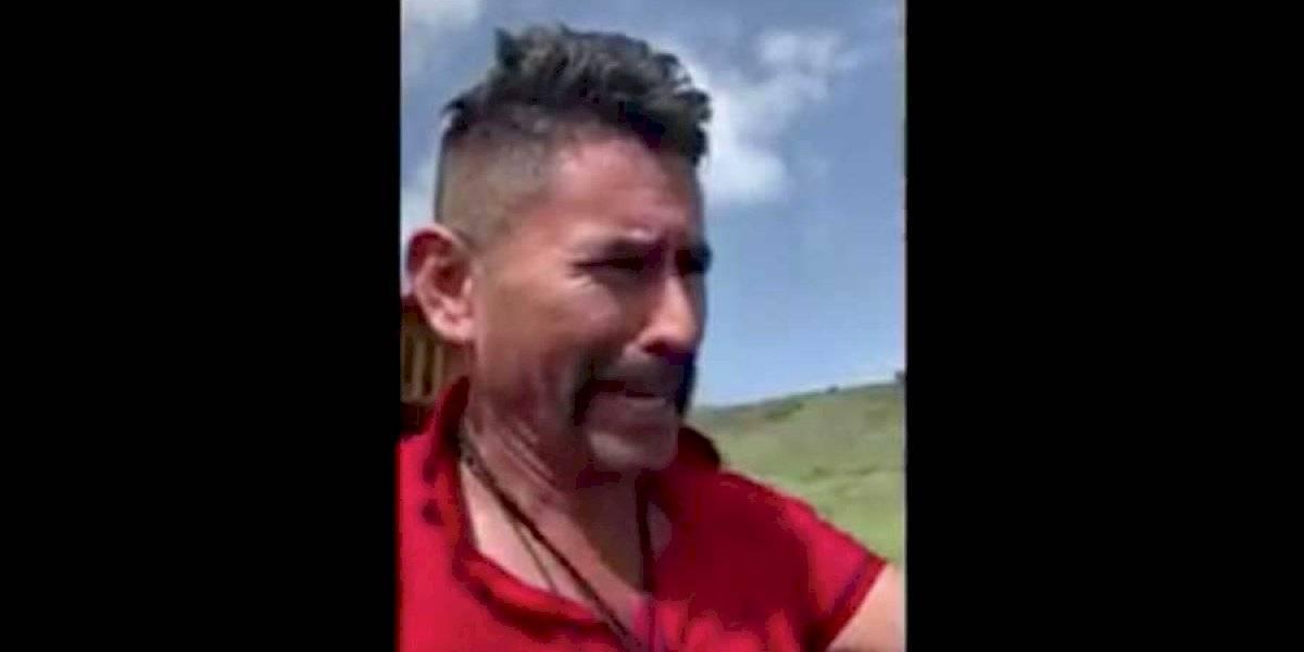 """VIDEO. Alcalde de Ipala """"viaja en el tiempo"""" para mostrar los daños al volcán y laguna de Ipala"""
