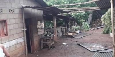 viviendas dañadas por lluvias en Suchitepéquez