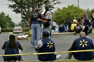 Escenas tras el tiroteo en Mississippi
