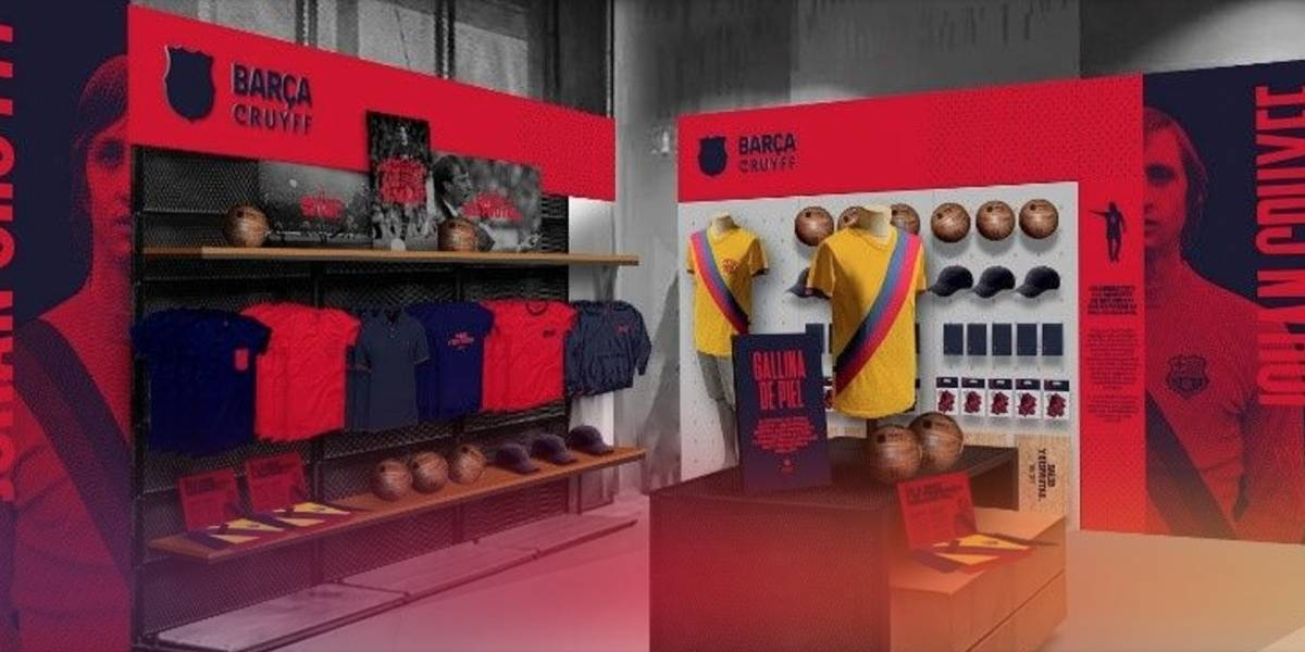 Barcelona lanza colección de ropa en homenaje a Johan Cruyff
