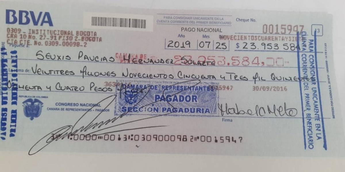 ¡Polémico! Cámara le gira 23 millones de pesos a 'Jesús Santrich'