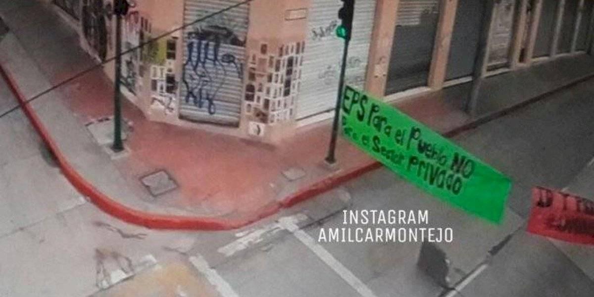 Paso cerrado en zona 1 por manifestación de sancarlistas