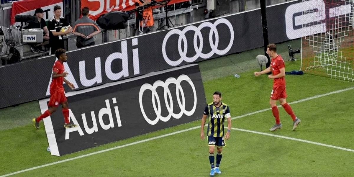 Isla y su Fenerbahçe fueron humillados por Bayern Munich en duelo amistoso