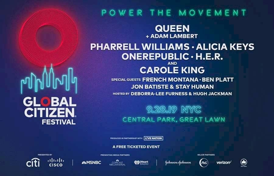 Anuncio del Global Citizen Festival 2019