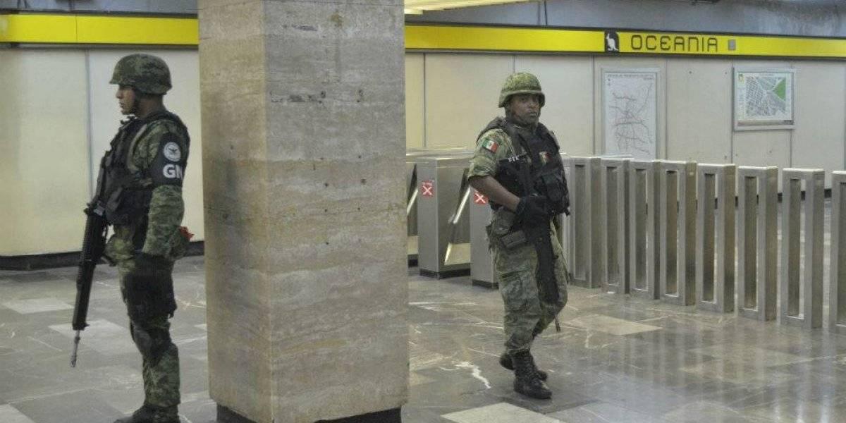 Guardia Nacional en el Metro de la CDMX