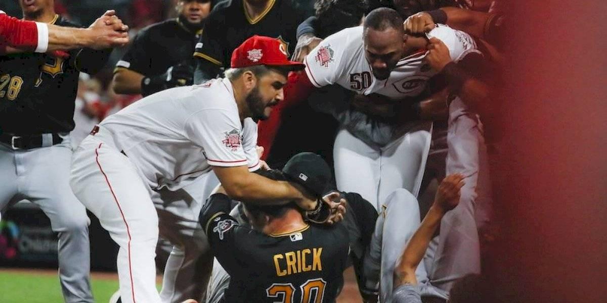 Se arma la bronca entre Pirates y Reds en la MLB