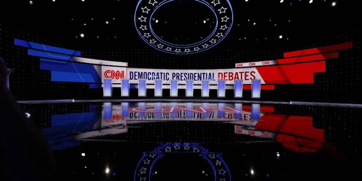 EN VIVO. Precandidatos demócratas se enfrentan en primer debate