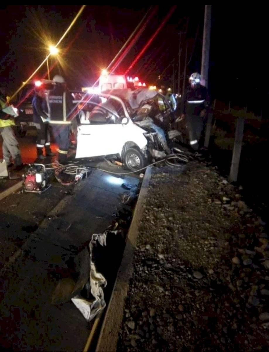 Accidente de tránsito en la Panamericana sur, sector Tambillo Cortesía