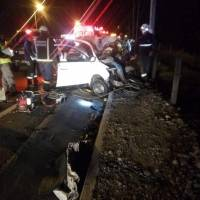 Accidente de tránsito en la Panamericana sur, sector Tambillo