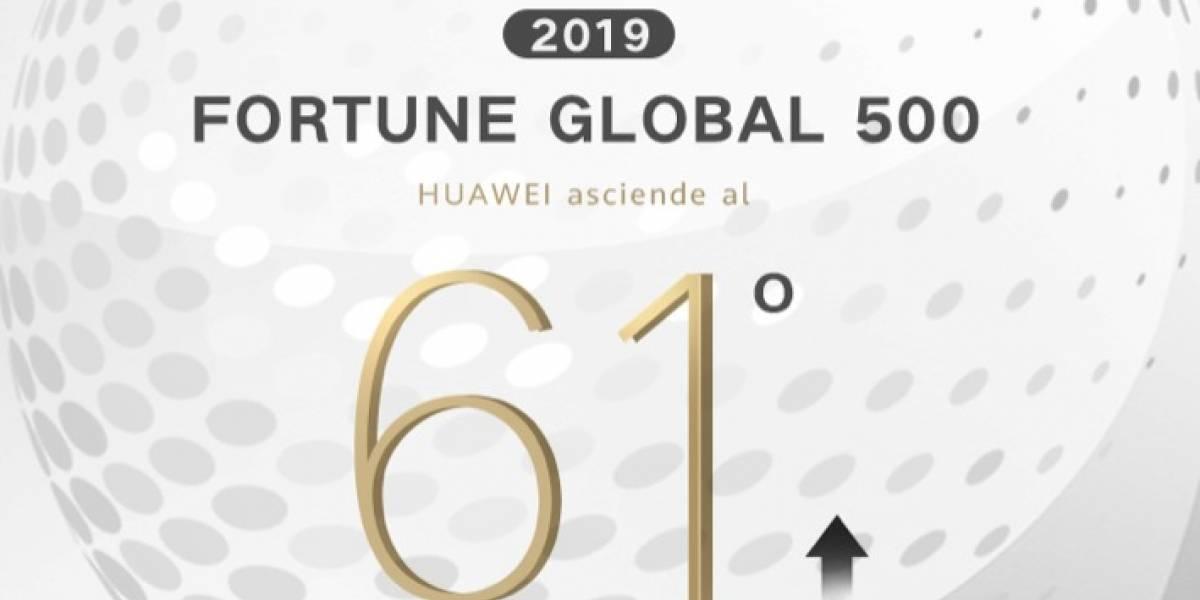 Huawei sube 11 puestos en la lista Fortune 500