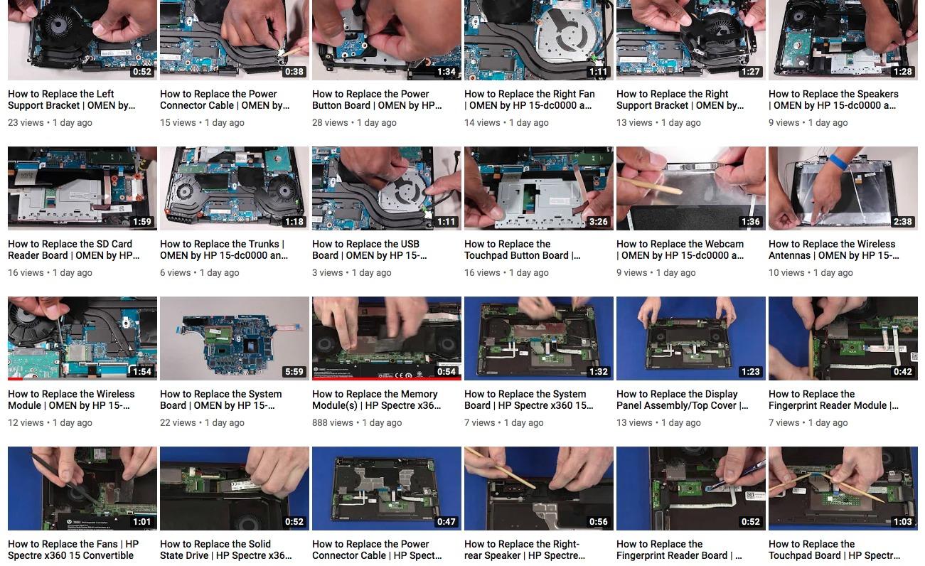 HP se volvió loco: agregó cientos de videos de soporte técnico a su canal de Youtube