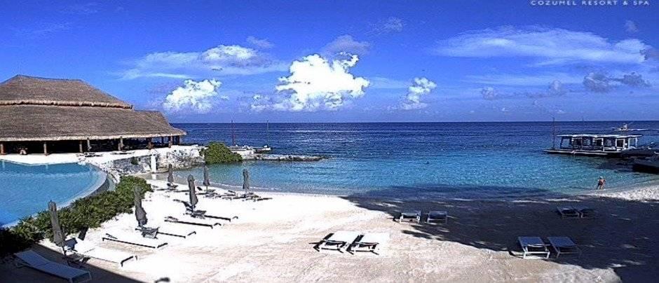 Foto: Vista PLAYA NORTE, IXCHEL BEACH HOTEL, Fuente: http: //www.webcamsdemexico.com/webcam-isla-mujeres