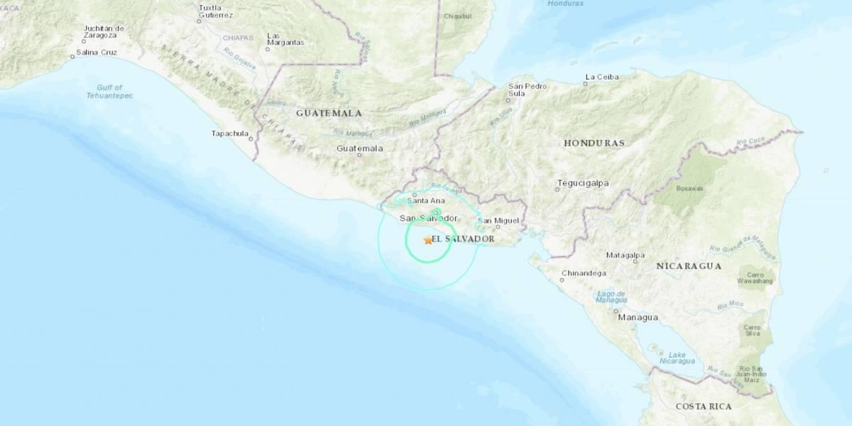 Un sismo de magnitud 5.9 con epicentro en el Pacífico sacude El Salvador