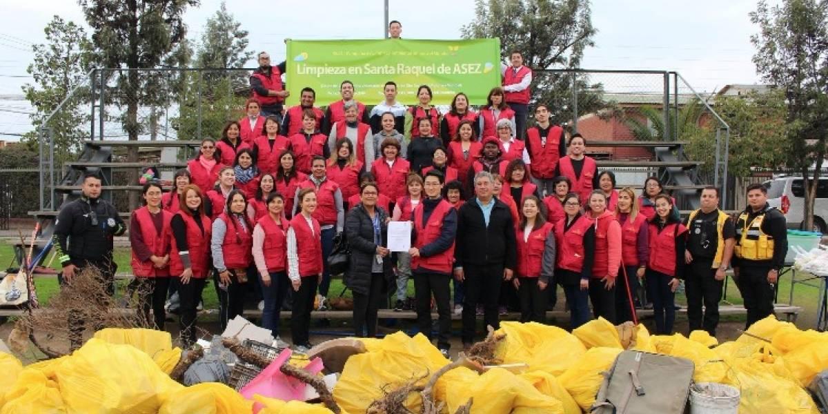 Medio ambiente en Santiago, Valparaíso y La Serena beneficiado por acción social de organización universitaria