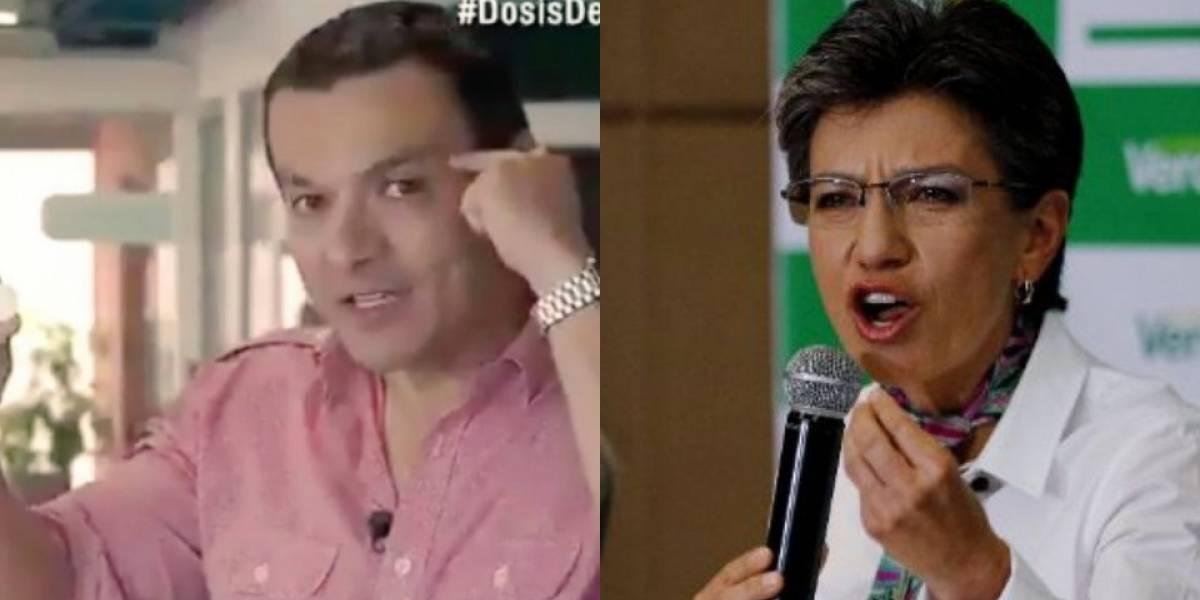 Claudia López se molesta con Juan Diego Alvira en pleno noticiero