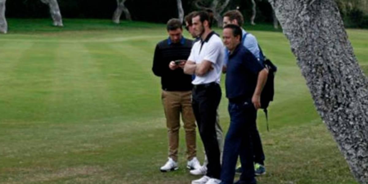 Mientras el Real Madrid perdía ante el Tottenham, Gareth Bale jugaba golf