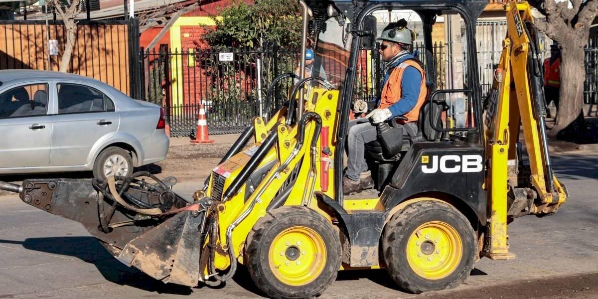 JCB aporta en las obras públicas de la región de Valparaíso