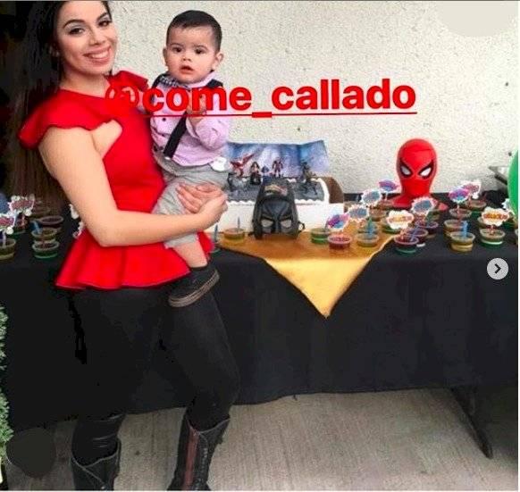 Lizbeth Rodríguez y su hijo