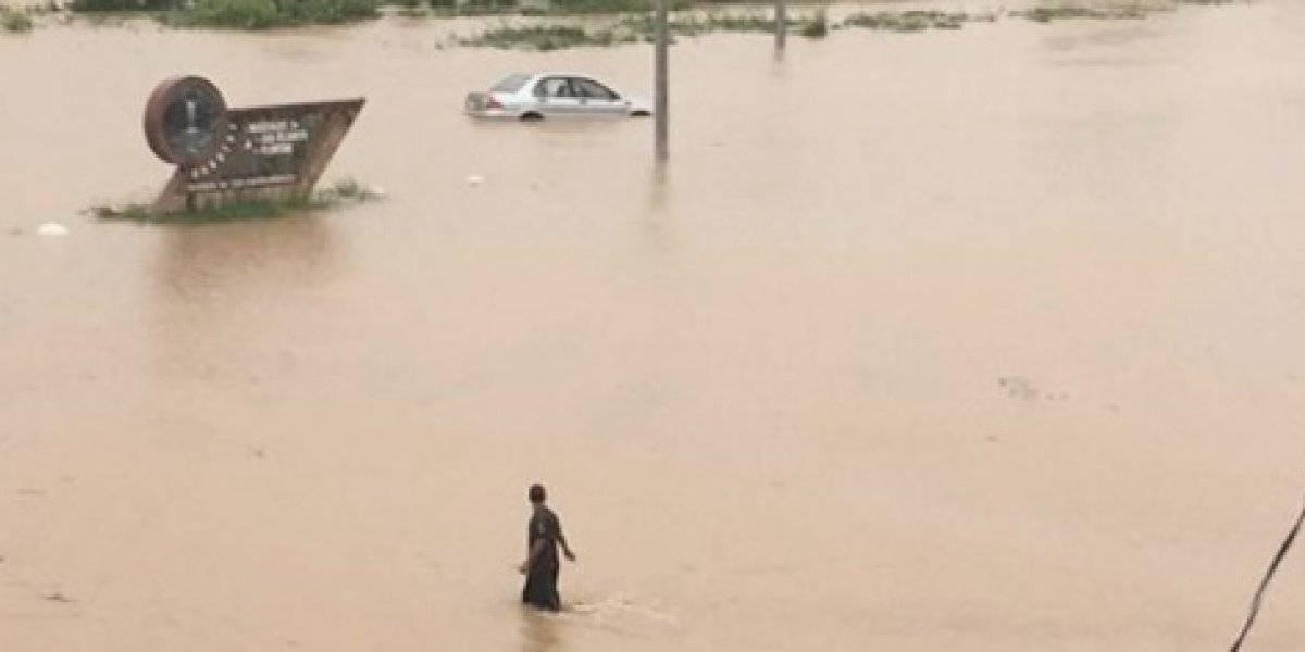 Inundada la carretera PR-31 en Naguabo