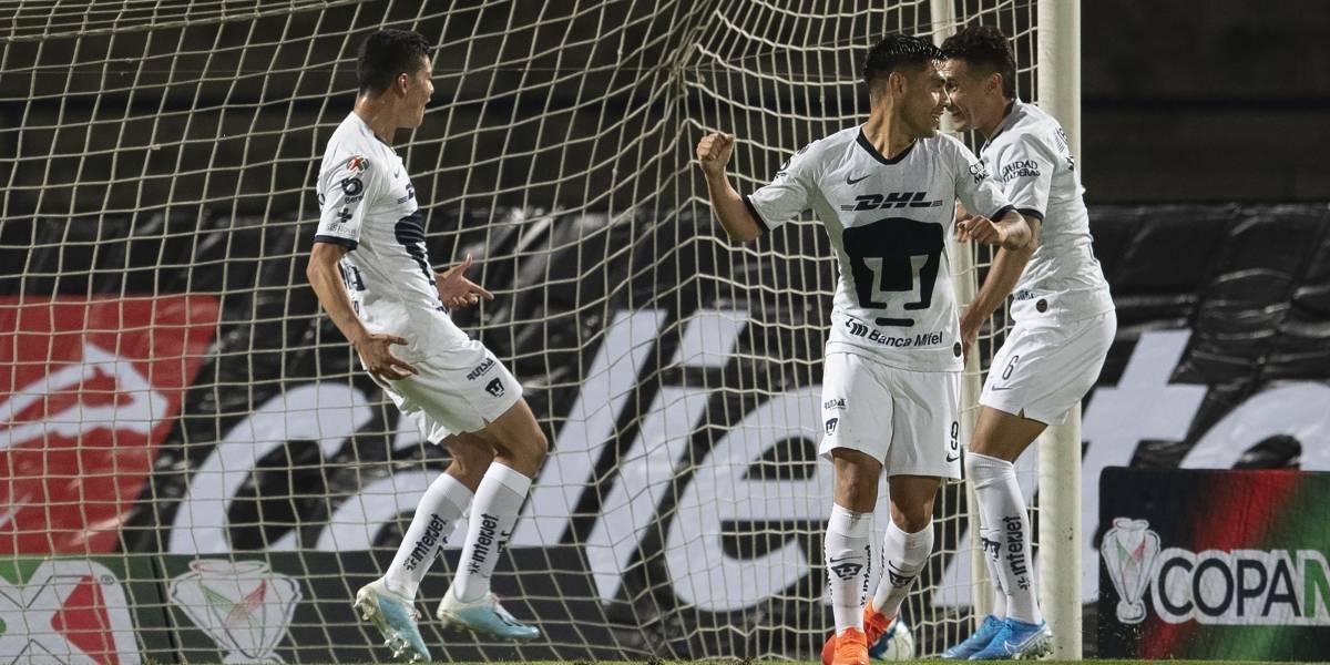 Debutante de 17 años, impide derrota de Pumas en Copa MX