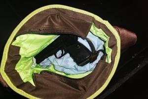 Mujer trasladaba arma de fuego en una pañalera en zona 5
