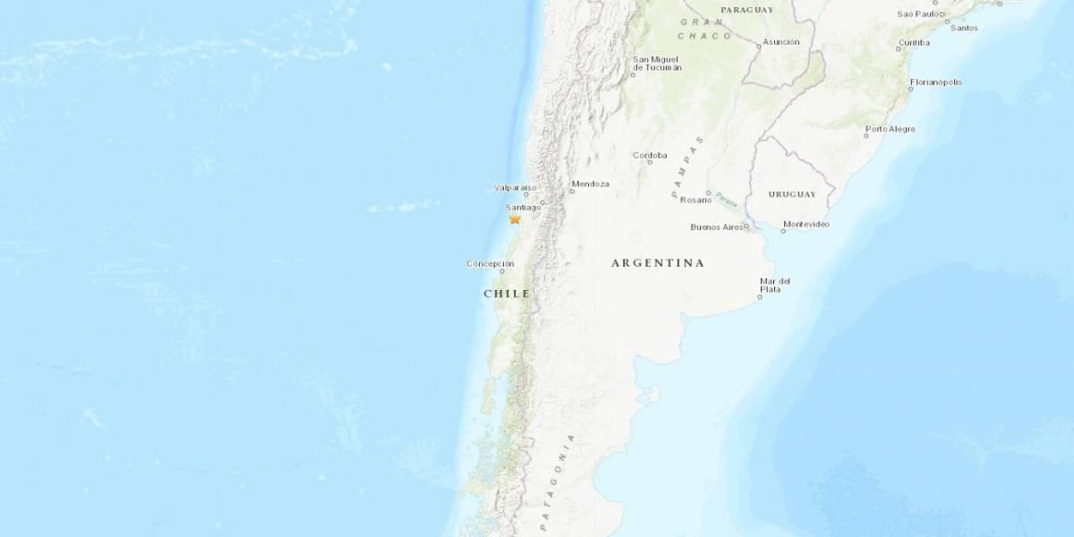 Ocurre sismo magnitud 6.8 en zona central de Chile
