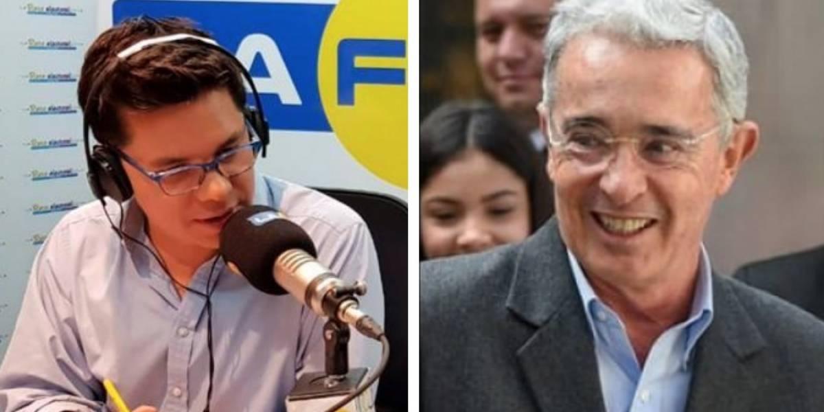 El tremendo agarrón entre Luis Carlos Vélez y Álvaro Uribe al aire