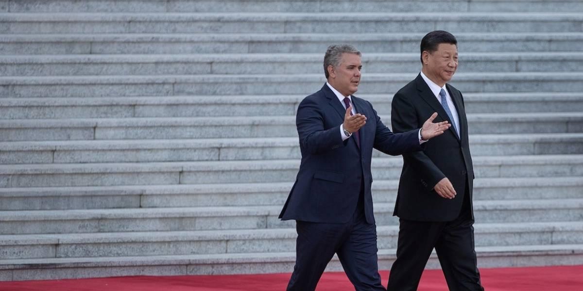 El curioso detalle que nadie notó de la visita de Iván Duque a China