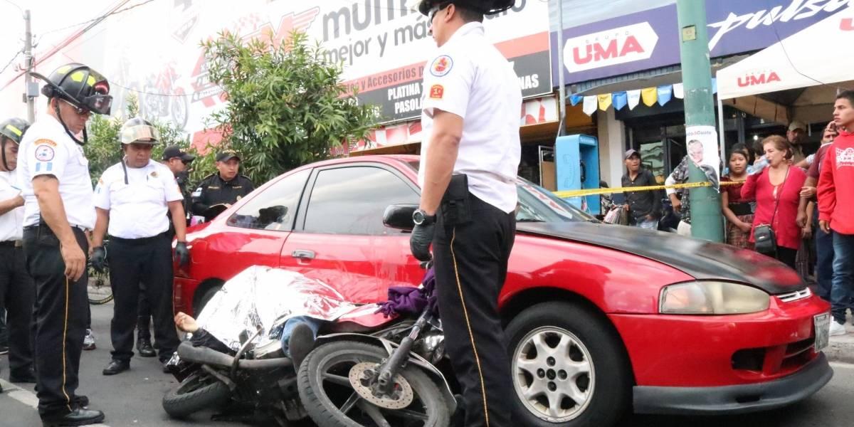 Motorista fallece durante ataque armado en la 7a. avenida de la zona 9