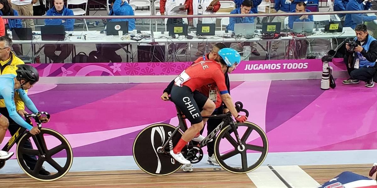 Ciclista Felipe Peñaloza luchó hasta el final para quedarse con la medalla de bronce en el Omnium