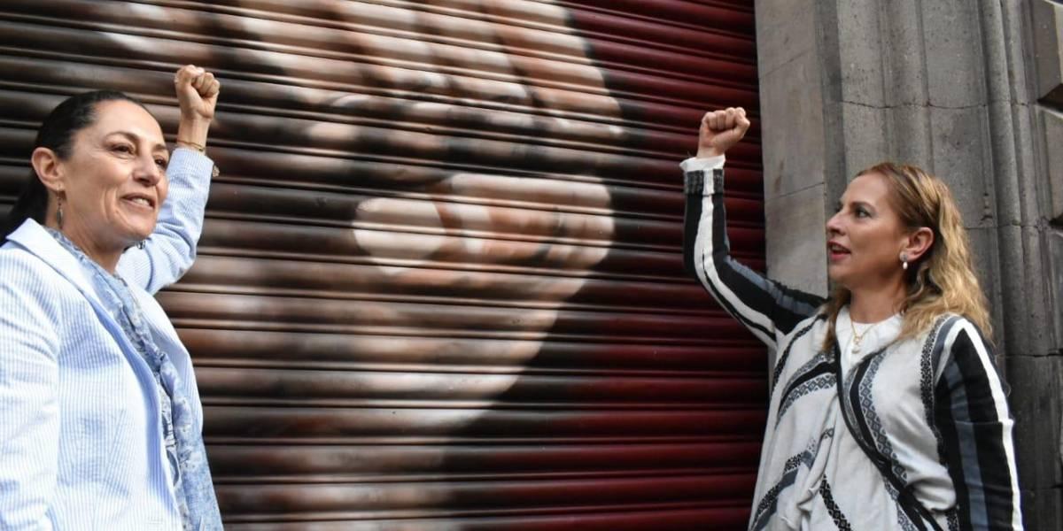Presentan Sheinbaum y Beatriz Gutierrez galería de arte urbano en Centro Histórico