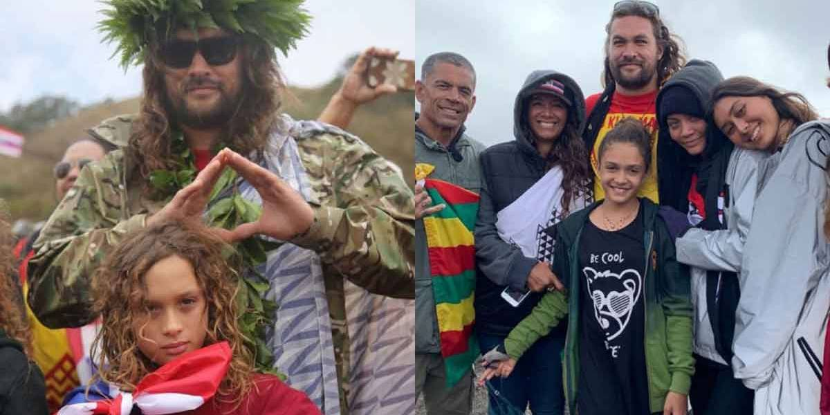 Jason Momoa celebra 40 anos em protesto contra obra em território sagrado no Havaí