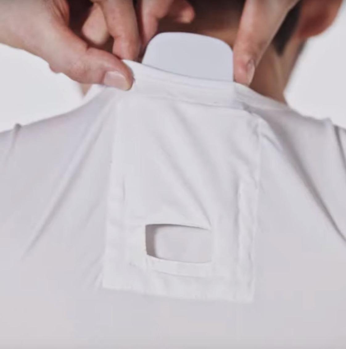 camisa con aire acondicionado