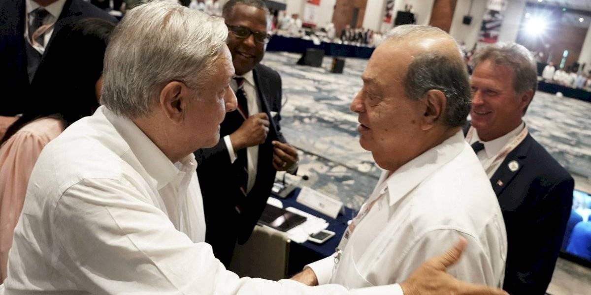 Slim está dispuesto a continuar inversión en el país: AMLO