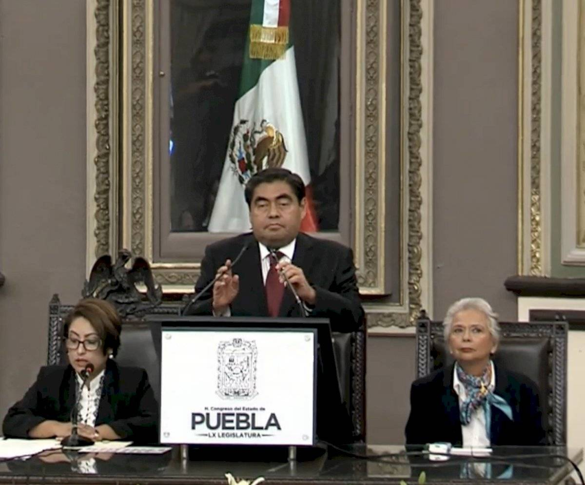 Miguel Barbosa, gobernador de Puebla. Foto: captura de video