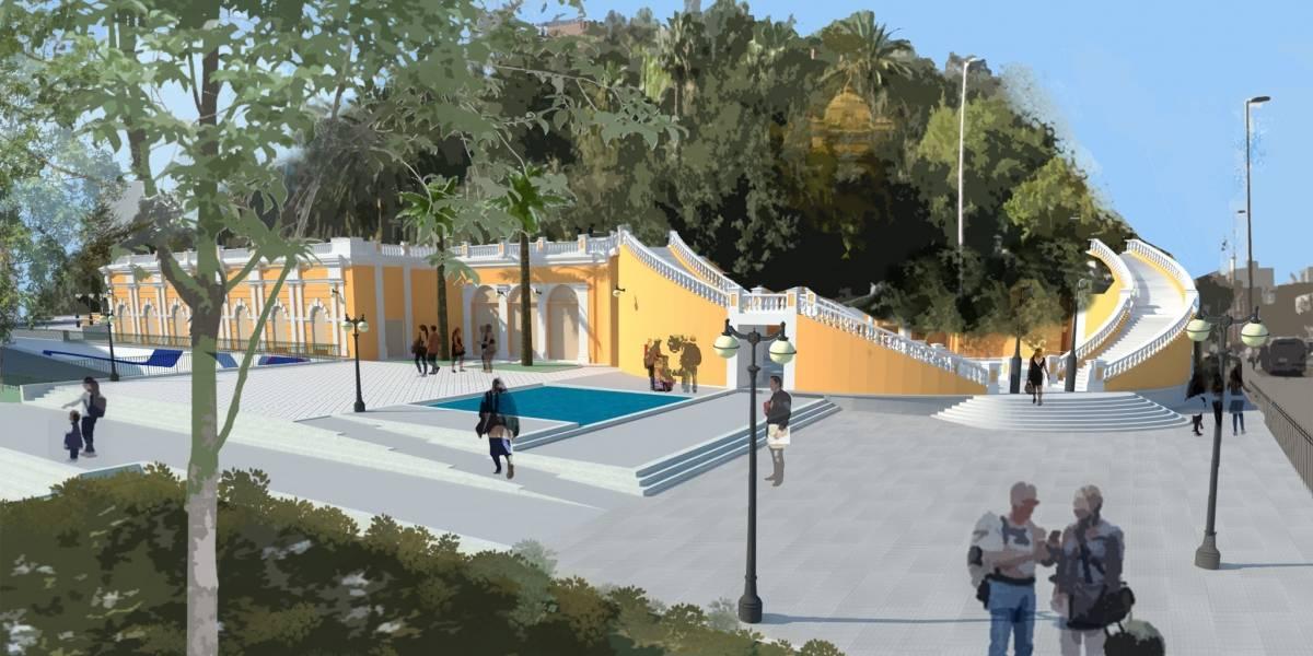 Así será la nueva explanada que se construirá al lado del Cerro Santa Lucía