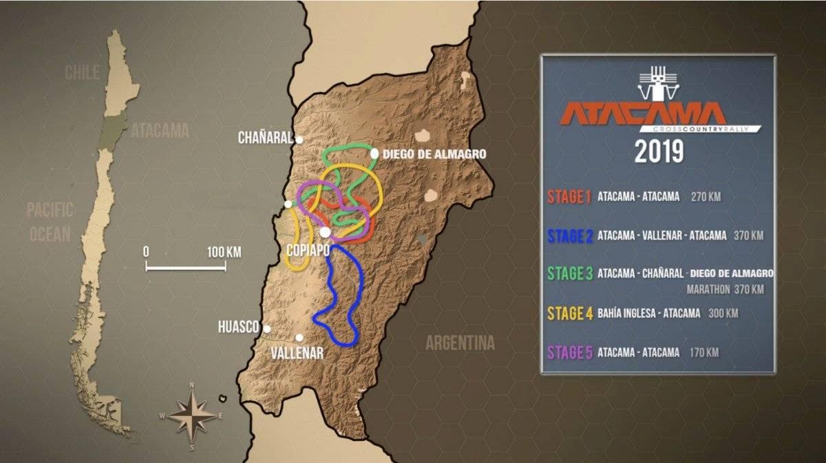 Atacama Rally mapa